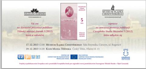 """Promocja piątego tomu """"Cieszyńskich Studiów Muzealnych"""""""