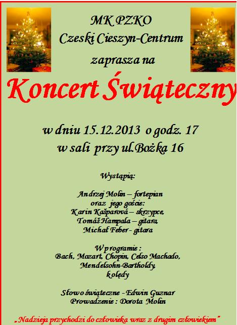 MK PZKO Czeski Cieszyn zaprasza na koncert