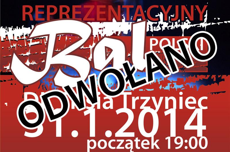 III Reprezentacyjny Bal Polski odwołany