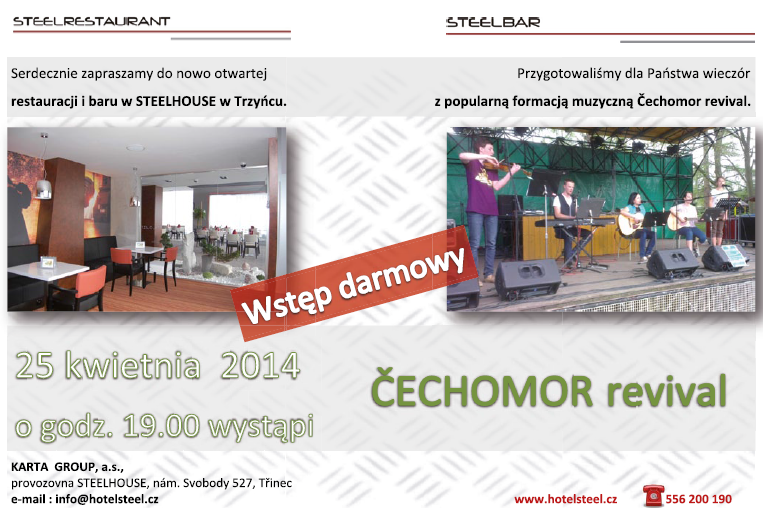W Trzyńcu zagra ČECHOMOR revival