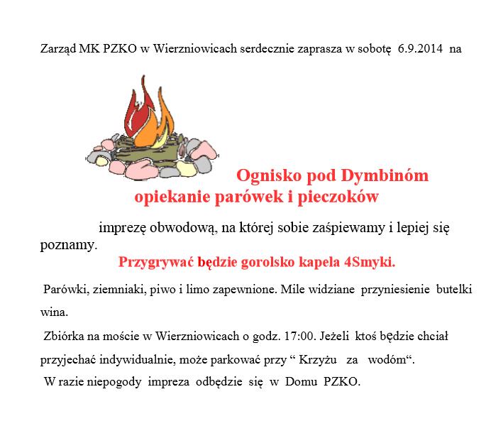 Ognisko w Wierzniowicach