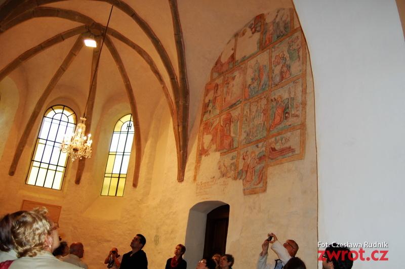 Średniowieczne freski w frysztackim kościele