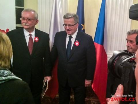 Obchody 25. rocznicy aksamitnej rewolucji z udziałem Bronisława Komorowskiego