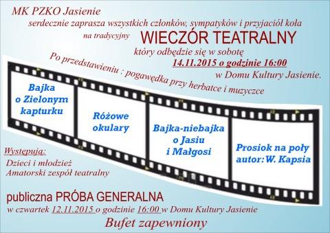 Wieczór teatralny w Jasieniu
