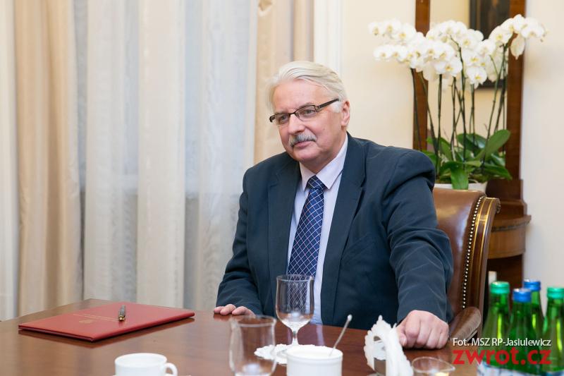 Witold Waszczykowski w Pradze