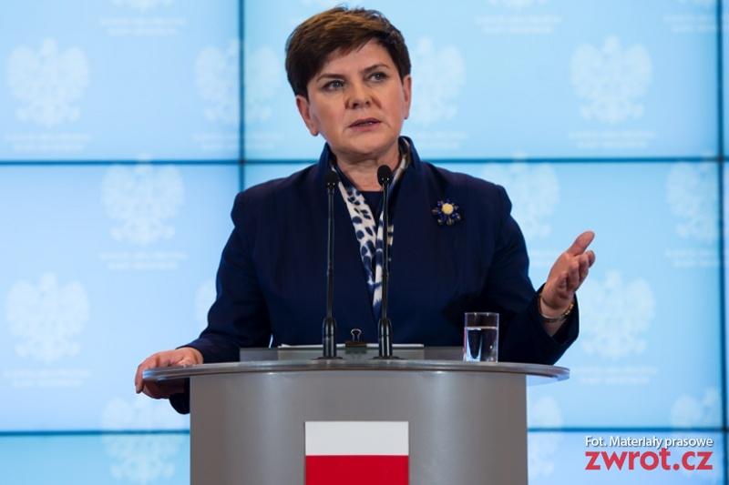 Premier Beata Szydło przyjeżdża do Pragi
