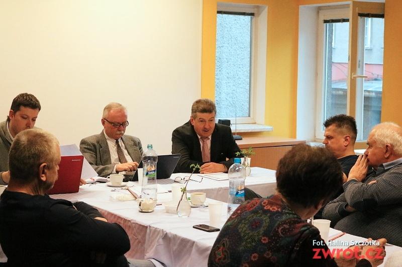 Jerzy Cieńciała na zebraniu ZG PZKO
