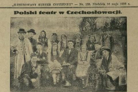 Teatr amatorski w Bystrzycy 1926