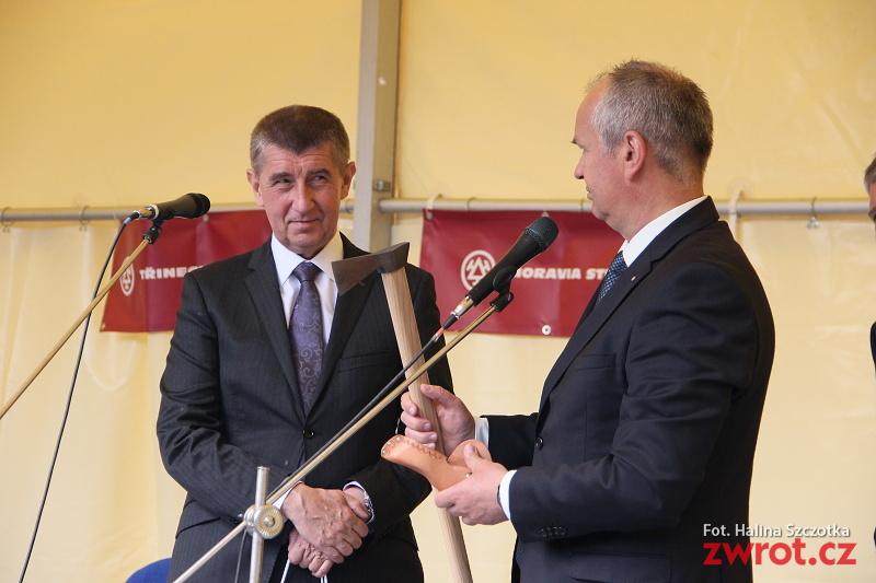 Minister Babiš w Trzyńcu