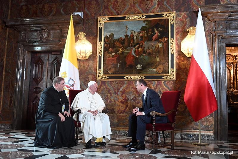 Oficjalne powitanie Ojca Świętego na Wawelu