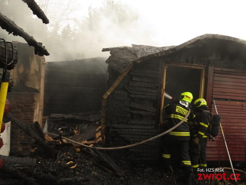 Spłonął domek w Gutach