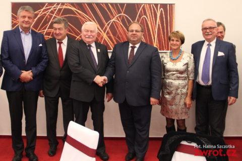 Lech Wałęsa na kolacji u hetmana Nováka