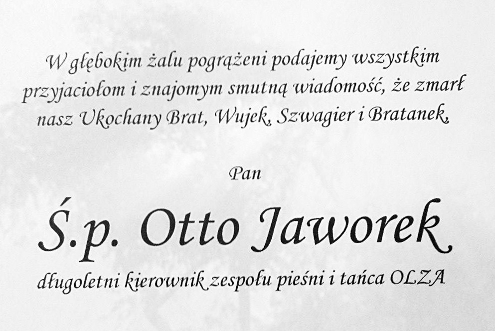 Żegnamy Otto Jaworka