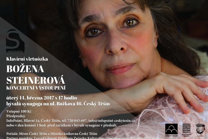 Božena Steinerová zagra dla czeskocieszyńskiej publiczności