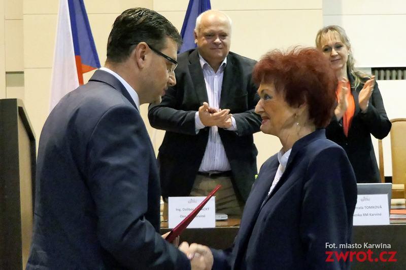 Medal Wacława Olszaka dla Haliny Molin