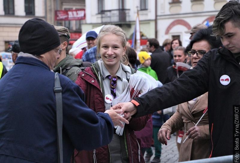 100 lat niepodległości na cieszyńskim Rynku