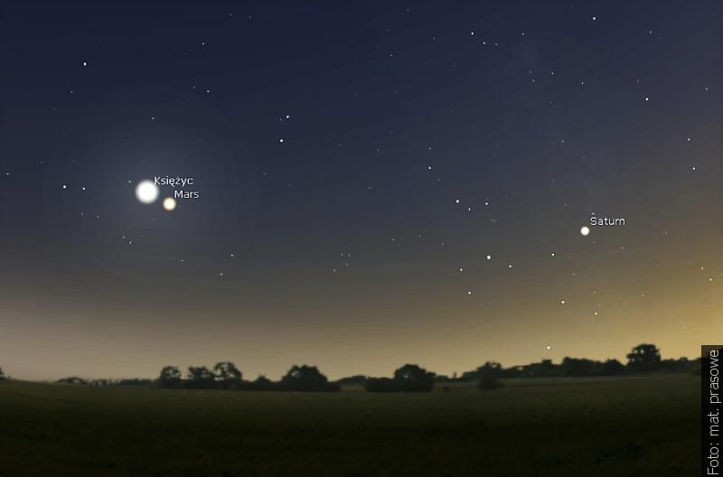 """""""Zwrot"""" astronomicznie: Wieczorem Księżyc zbliży się do Marsa"""