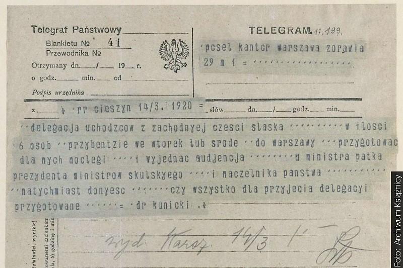 Telegramy w Książnicy Cieszyńskiej
