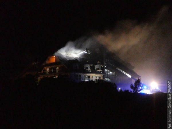 Płonął hotel w Istebnej