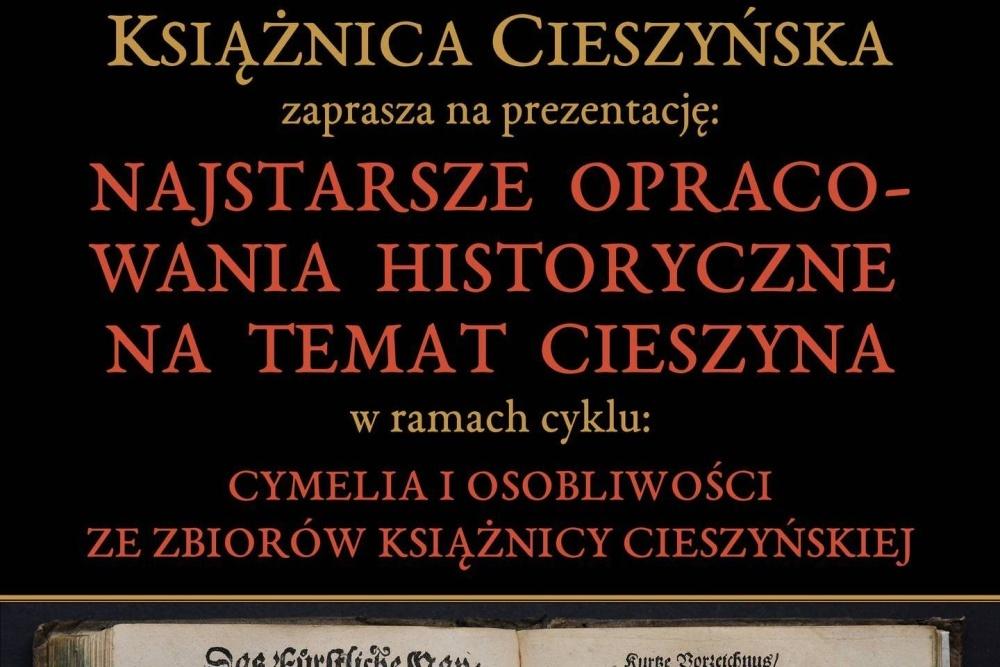 Książnica Cieszyńska pokaże najstarsze opracowania historyczne na temat Cieszyna