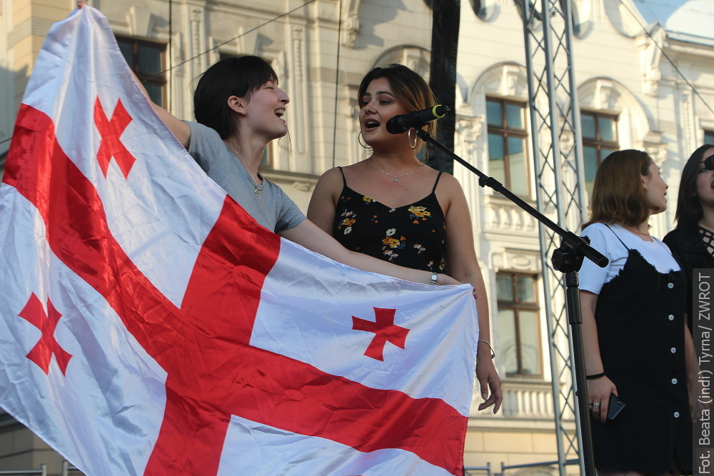 Uczestnicy Szkoły Języka Polskiego i Kultury Polskiej UŚ zaprezentowali się mieszkańcom Nadolziańskiego Grodu