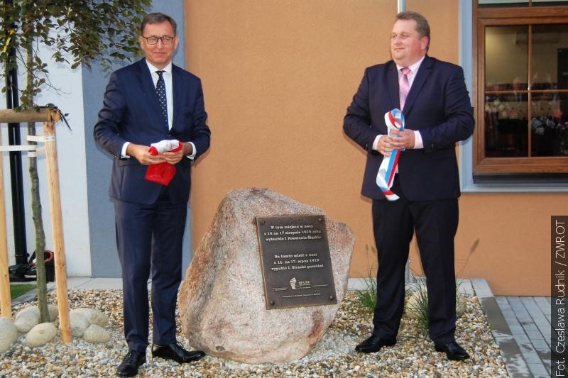 W Piotrowicach koło Karwiny odsłonięto tablicę upamiętniającą początek I Powstania Śląskiego
