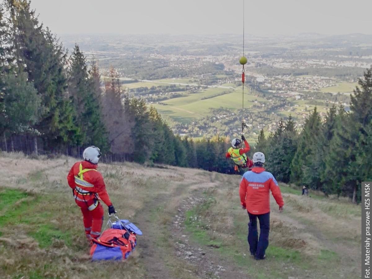 Ratownicy Lotniczego Pogotowia Ratunkowego interweniowali w Beskidach
