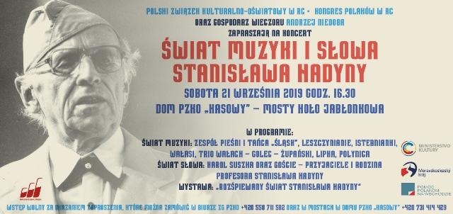 W Mostach będą wspominać Stanisława Hadynę