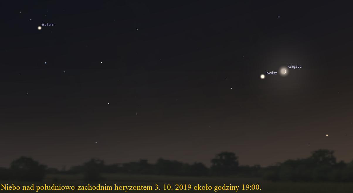 Zbliżenie Księżyca i Jowisza