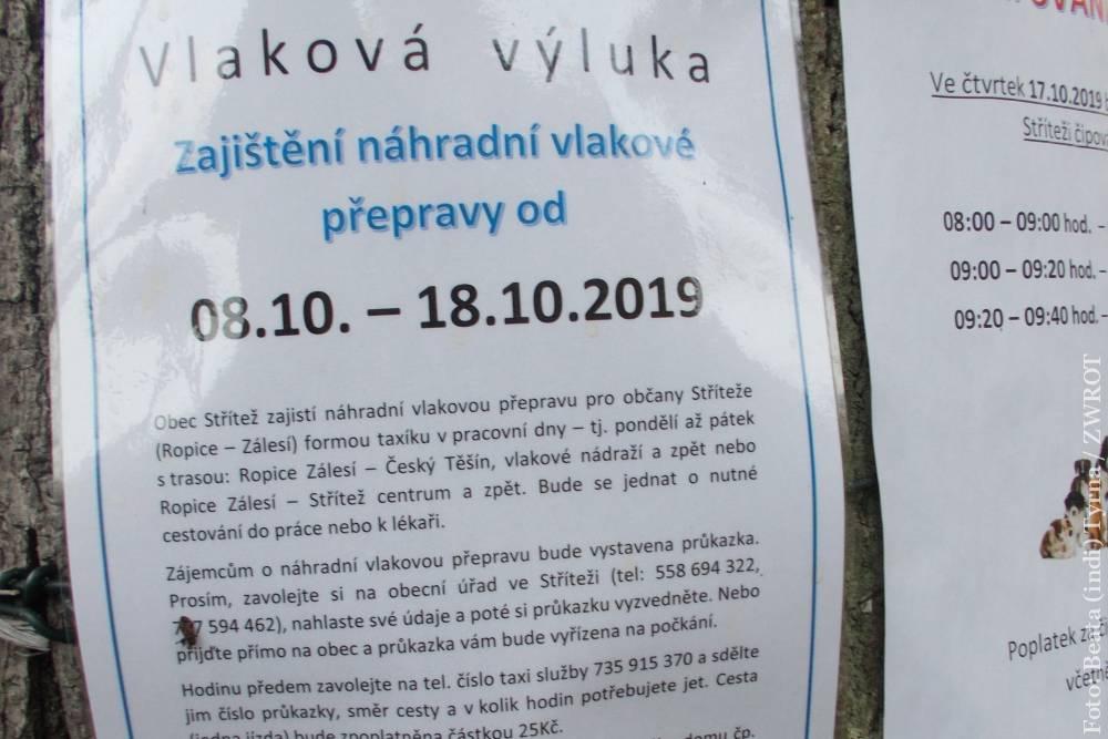 Trasa kolejowa Cieszyn – Gnojnik zamknięta