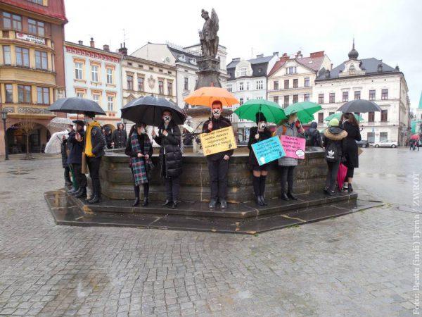 W Cieszynie młodzież też protestowała przeciwko zmianom klimatu