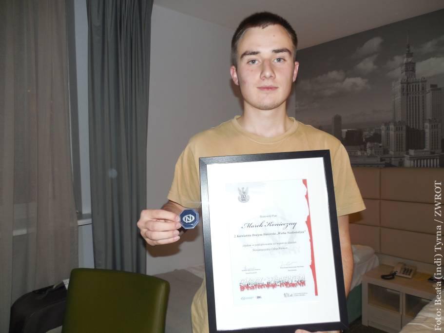 Młody Zaolziak został uhonorowany przez Stowarzyszenie Odra-Niemen
