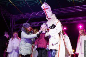 W Bystrzycy światełka na choince zapalał Mikołaj