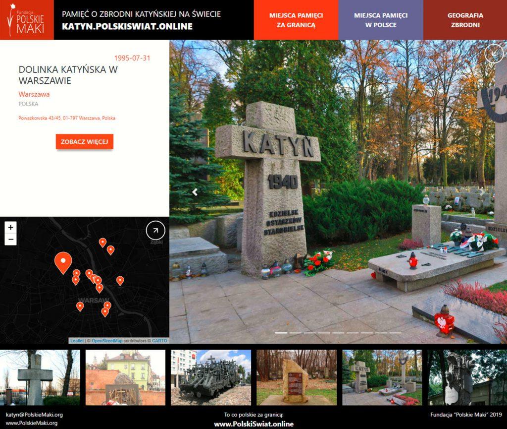 Powstała Mapa Pamięci Zbrodni Katyńskiej