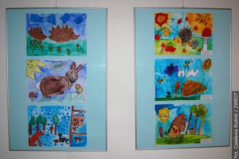 Dzieci narysowały przygody jeża Szymona