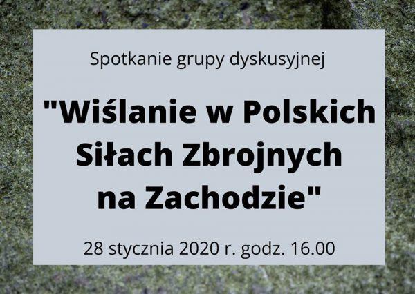 O Wiślanach w Polskich Siłach Zbrojnych na Zachodzie