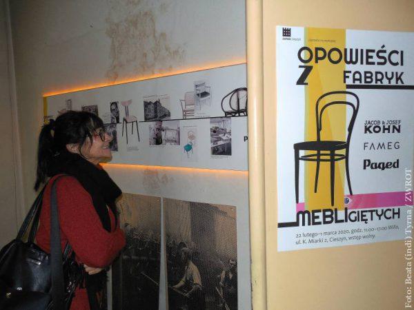 Obejrzeć można produkowane niegdyś na terenie dzisiejszego Czeskiego Cieszyna meble gięte