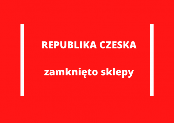 Rząd zamknął sklepy w Czechach