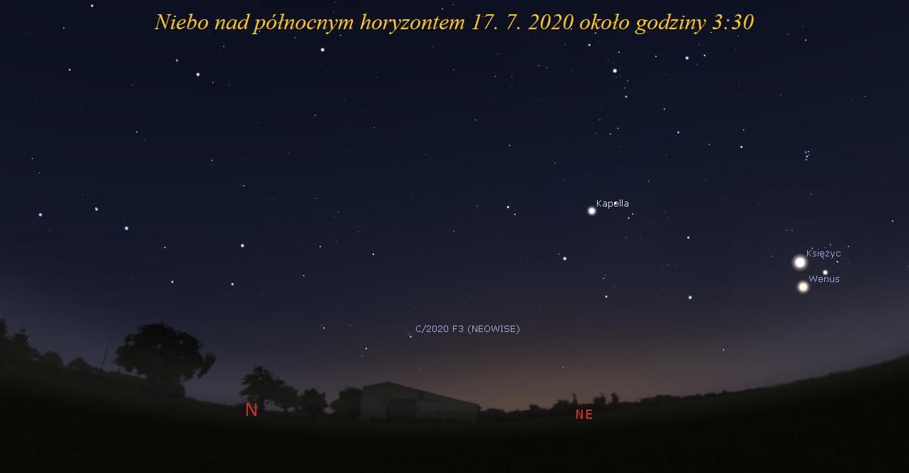 Sierp Księżyca w pobliżu Wenus