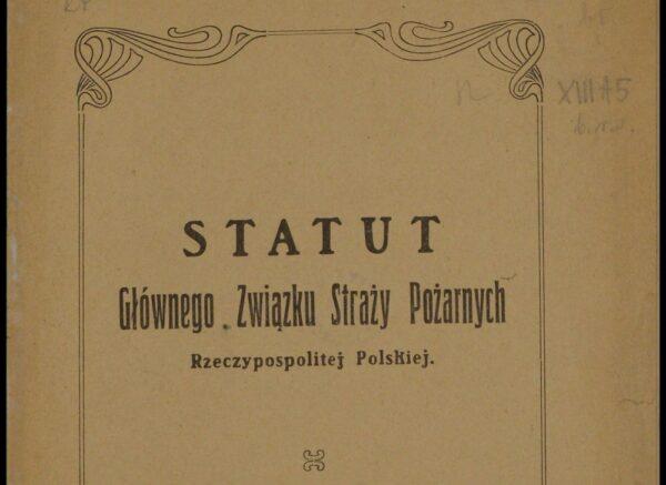 Pożarnictwo w Polsce po I wojnie światowej