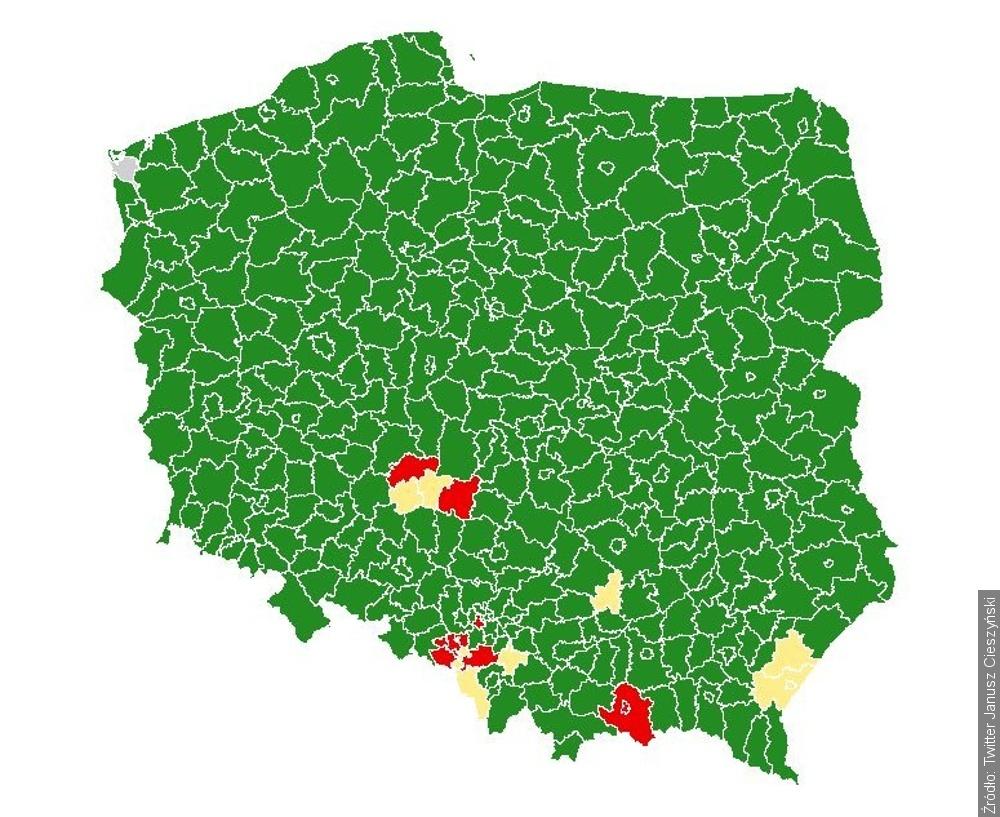 Od soboty w powiecie cieszyńskim będzie obowiązywał reżim sanitarny