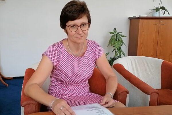 Wiersz Anieli Kupiec czyta burmistrz Czeskiego Cieszyna Gabriela Hřebačková