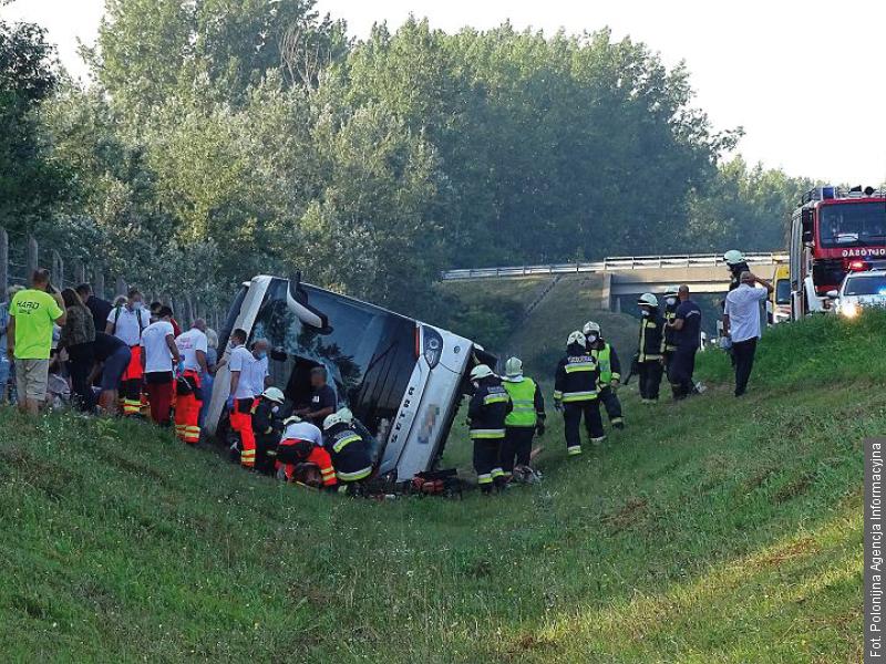 Wypadek autokaru ze Śląska na Węgrzech