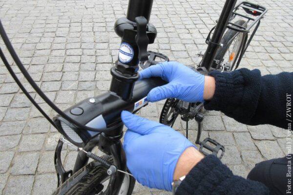 Na cieszyńskim Rynku można było oznakować swój rower