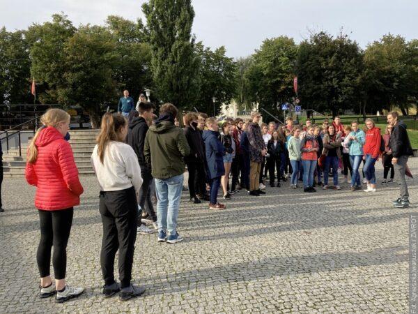 Uczniowie Gimnazjum pozdrawiają znad Bałtyku