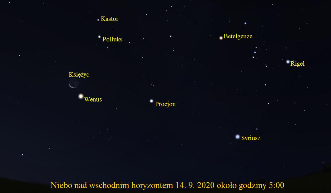 Jutro przed świtem koniunkcja Księżyca z Wenus