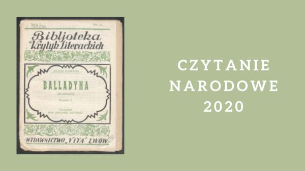 W tym roku czytamy Balladynę Juliusza Słowackiego