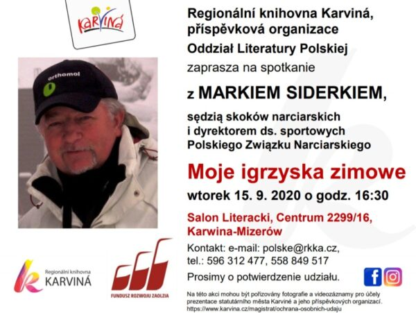 Spotkanie z Markiem Siderkiem w karwińskiej Bibliotece Regionalnej