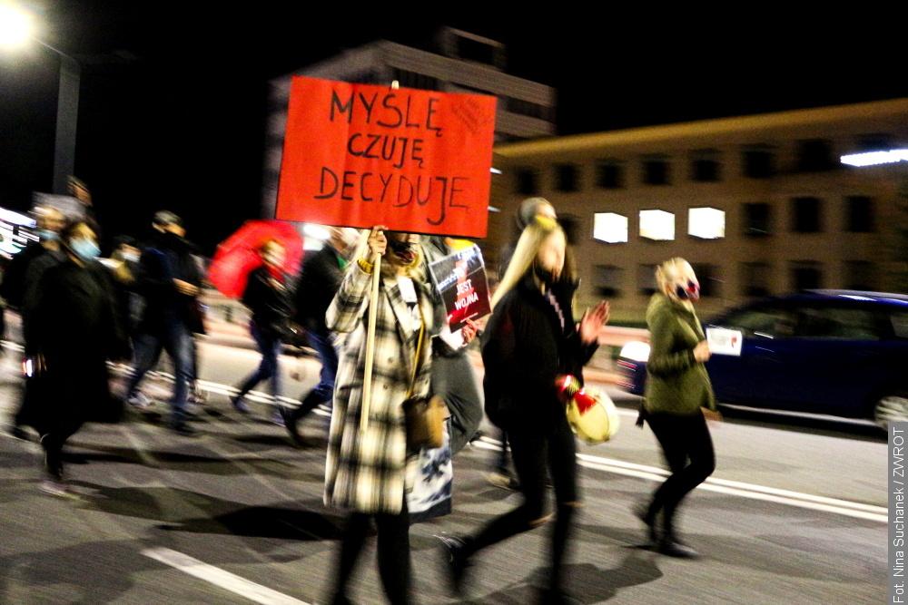 Wczorajszy protest w Cieszynie