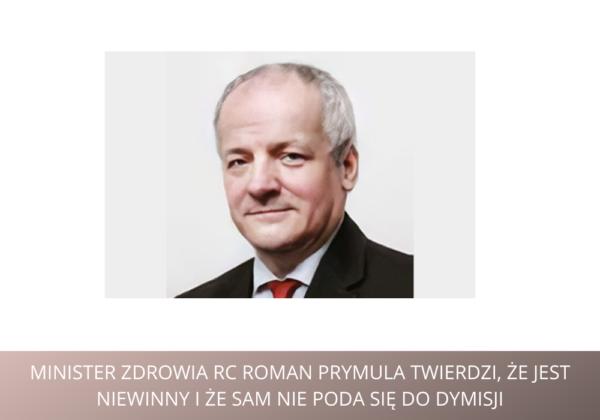 """ROMAN PRYMULA, minister zdrowia pomimo zakazów odwiedził restaurację.  """"Nie zamierzam podać się do dymisji!"""" powiedział zdecydowanie"""